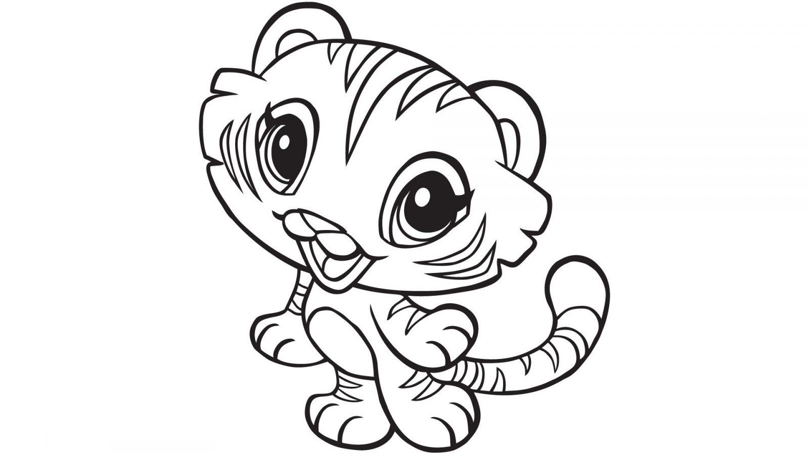 Galería De Imágenes Dibujos De Tigres Para Colorear